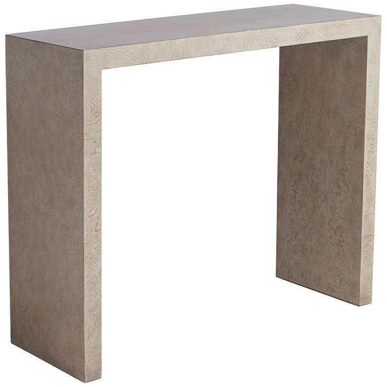 "Craig 38"" Wide Modern Gray Finish Console Table"