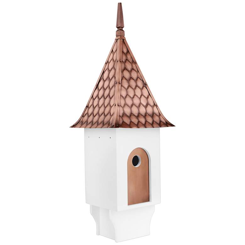 Chateau Pure Copper Diamond Pattern Roof Bird House