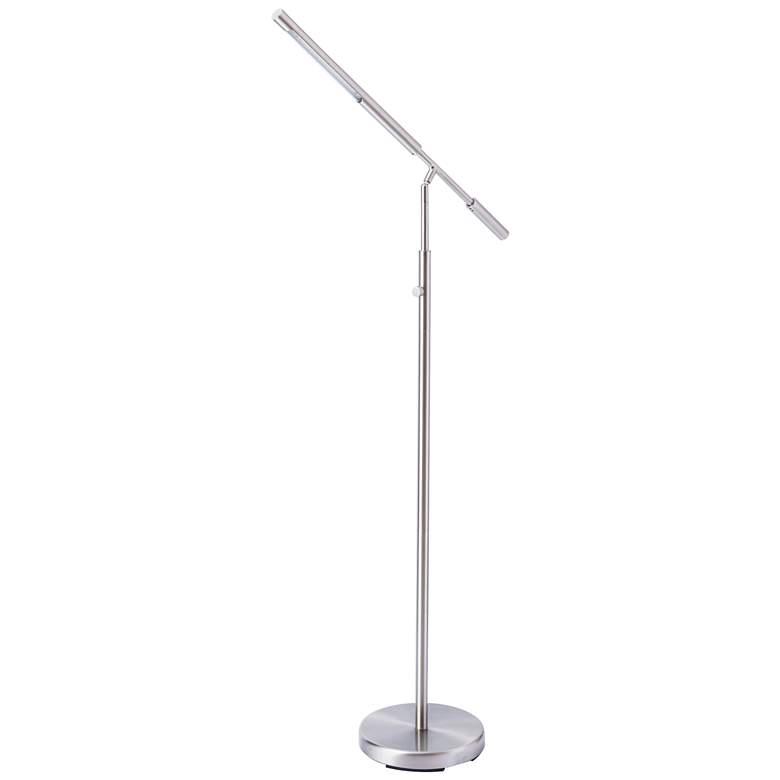 Cayden III Nickel Adjustable LED Floor Lamp with USB Port