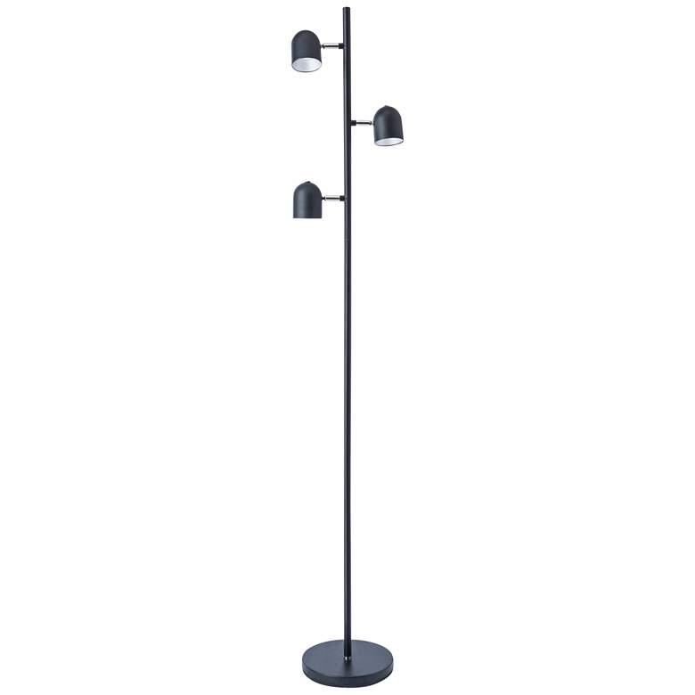 Lite Source Tiara Black LED 3-Light Tree Floor Lamp