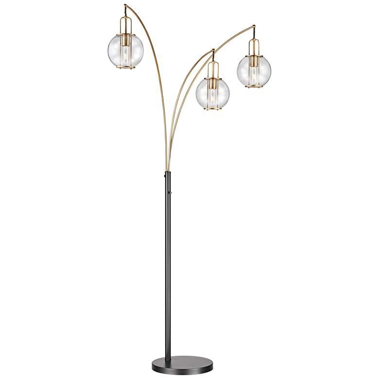 Lite Source Kaira Black and Gold 3-Light Arc Floor Lamp