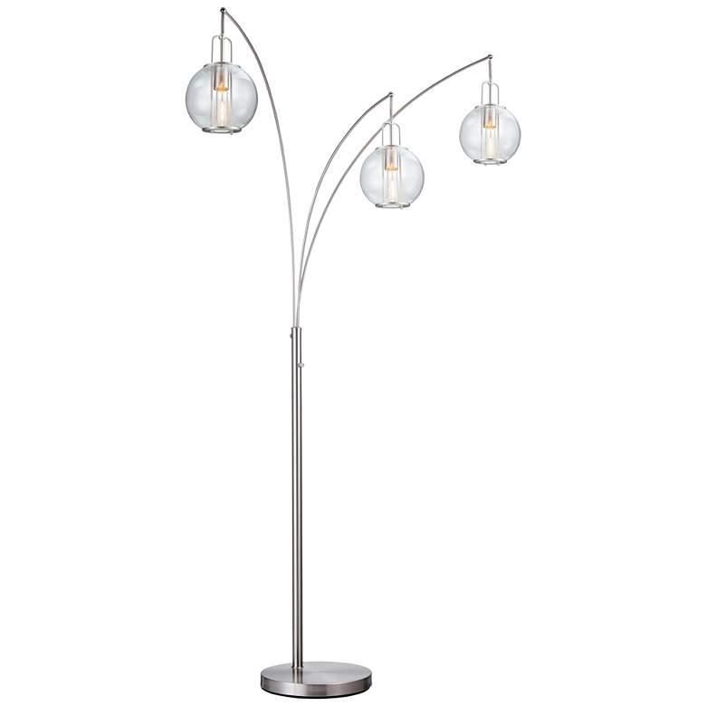 Lite Source Kaira Brushed Nickel 3-Light Arc Floor Lamp