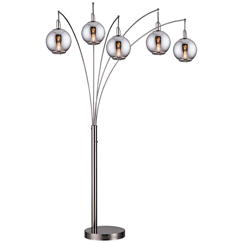 Lite Source Kaira Gunmetal 5-Light Arc Floor Lamp