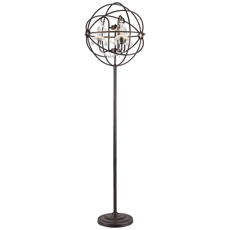 Lite Source Winona Antique Bronze 3-Light Orb Floor Lamp