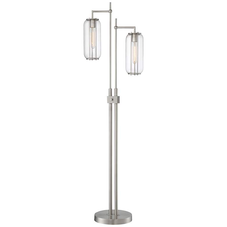 Lite Source Hagen Brushed Nickel 2-Light Floor Lamp