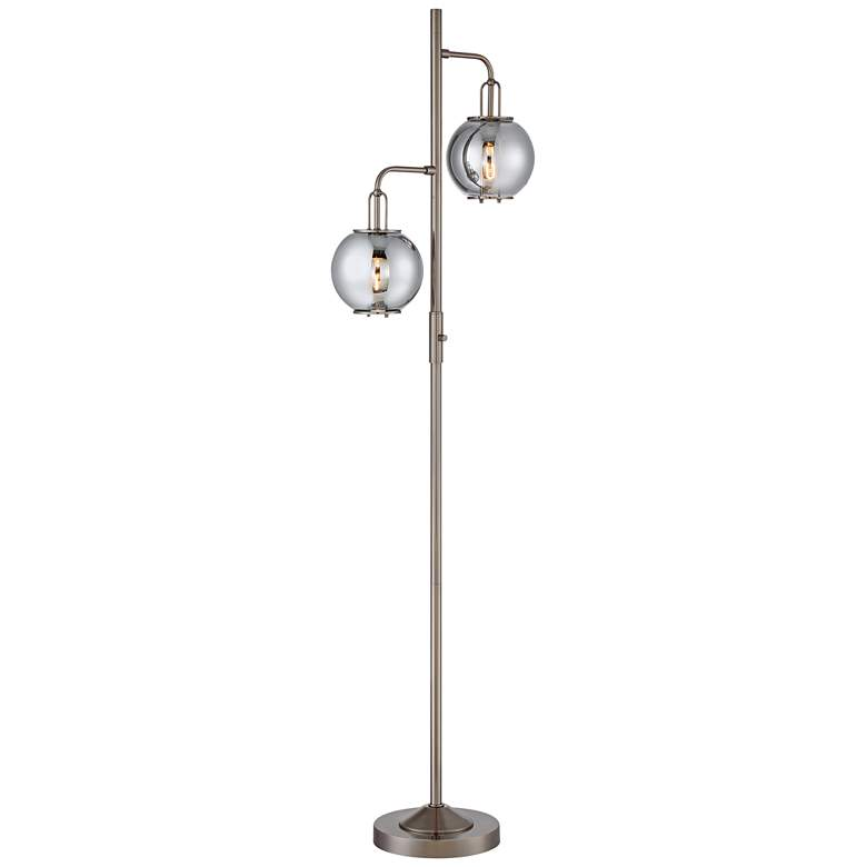 Lite Source Kaira Gunmetal 2-Light Floor Lamp