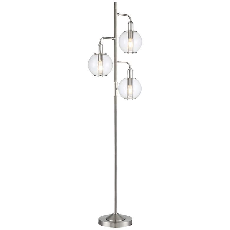 Lite Source Kaira Brushed Nickel 3-Light Floor Lamp