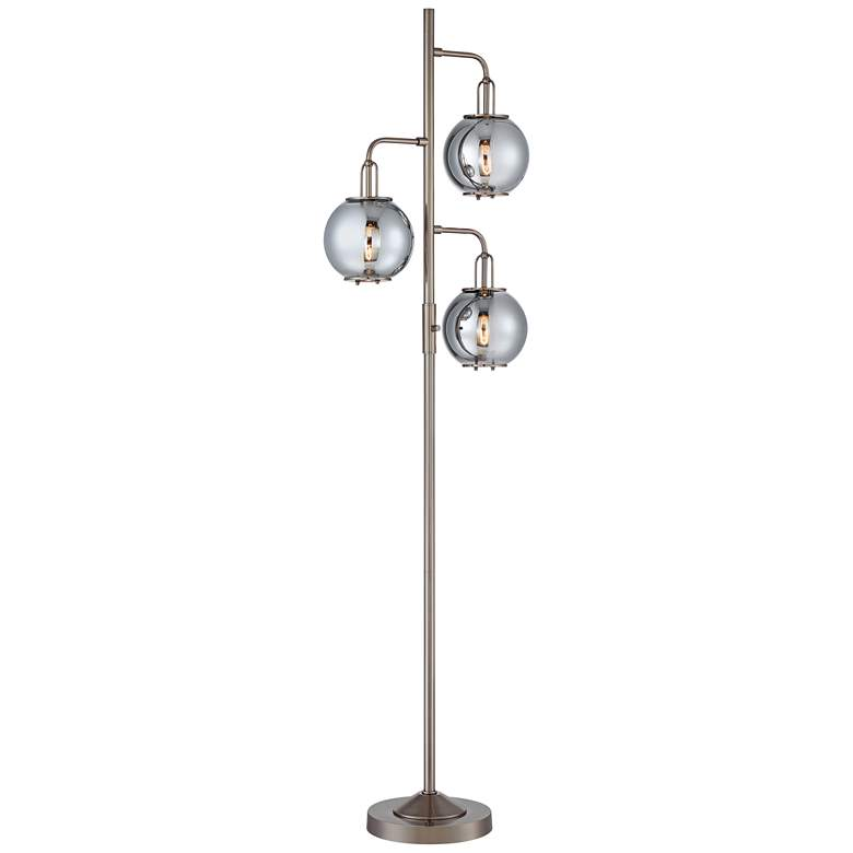 Lite Source Kaira Gunmetal 3-Light Floor Lamp