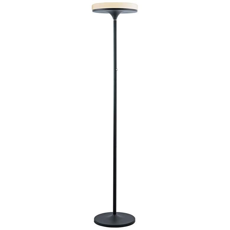 Lite Source Batson Black LED Torchiere floor Lamp