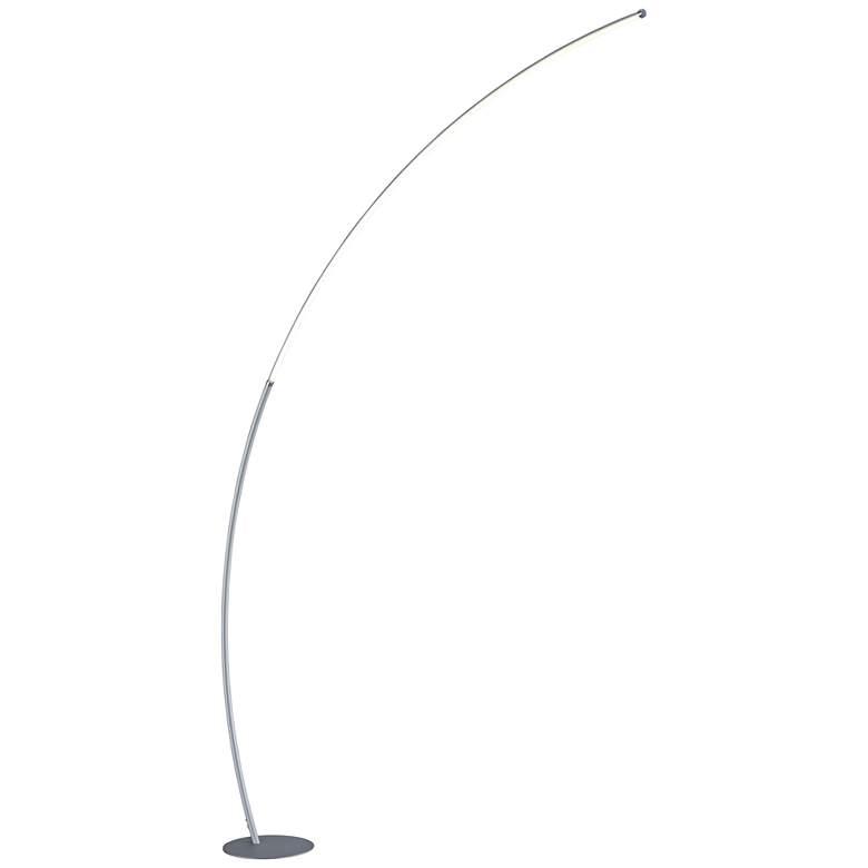 "Lite Source Monita 80"" High Silver LED Arc Floor Lamp"