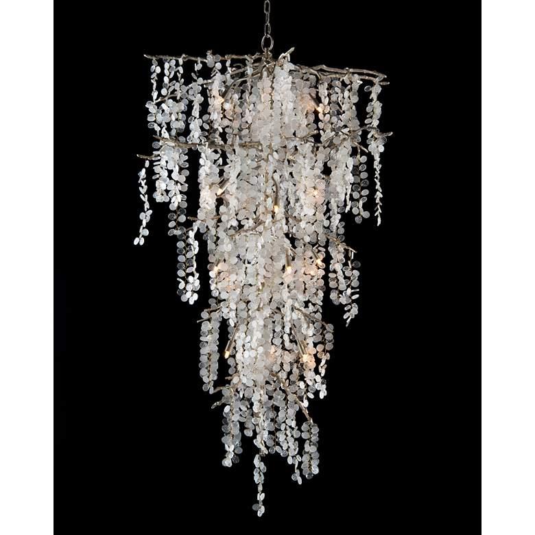 "John Richard Shiro Noda 38""W Brass Glass Cluster Chandelier"