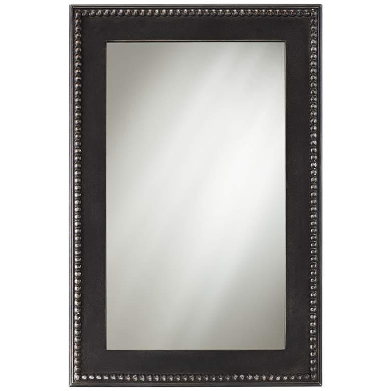 "Corson Black Beaded 24"" x 36"" Rectangular Wall Mirror"
