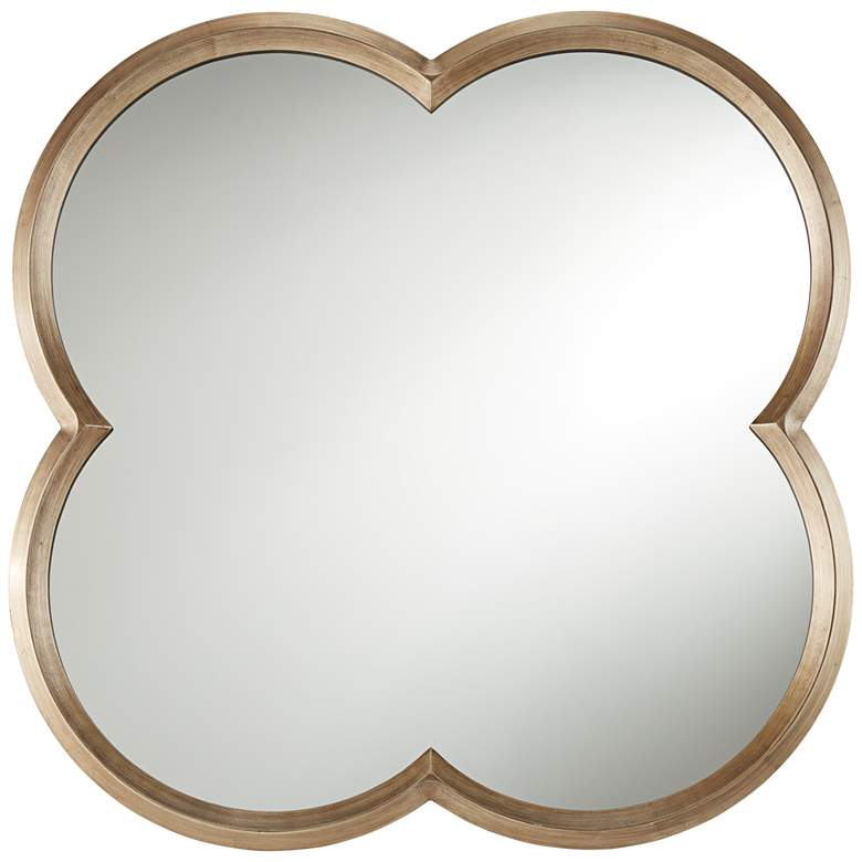 """Palazzo Gold 34 3/4"""" x 34 3/4"""" Clover Framed Wall Mirror"""