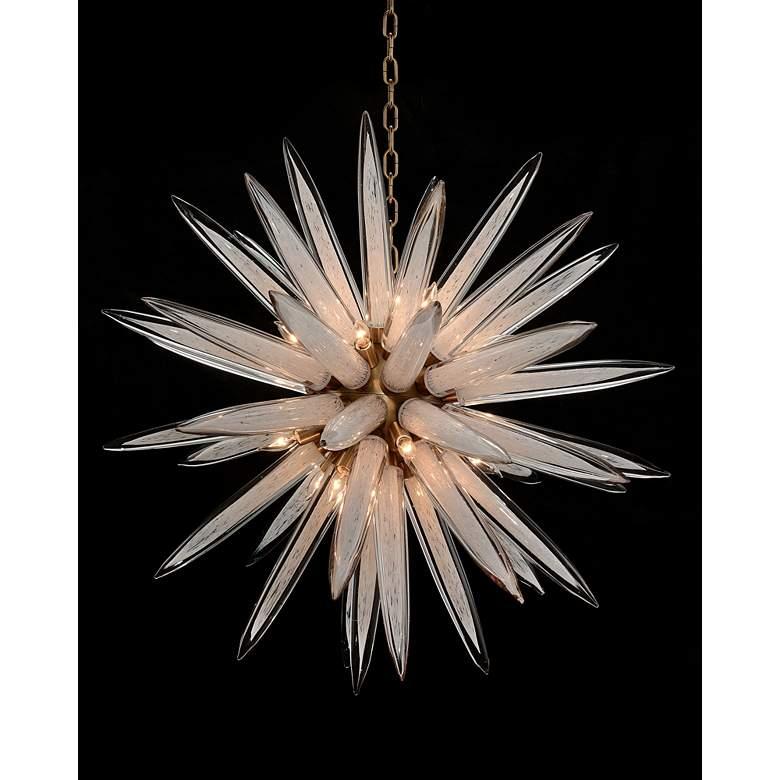 "John Richard 36"" Wide Antique Bronze 16-Light Pendant Light"