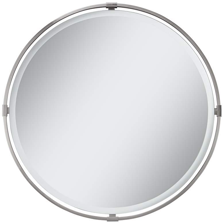 "Darlington Polished Nickel 34"" Round Wall Mirror"