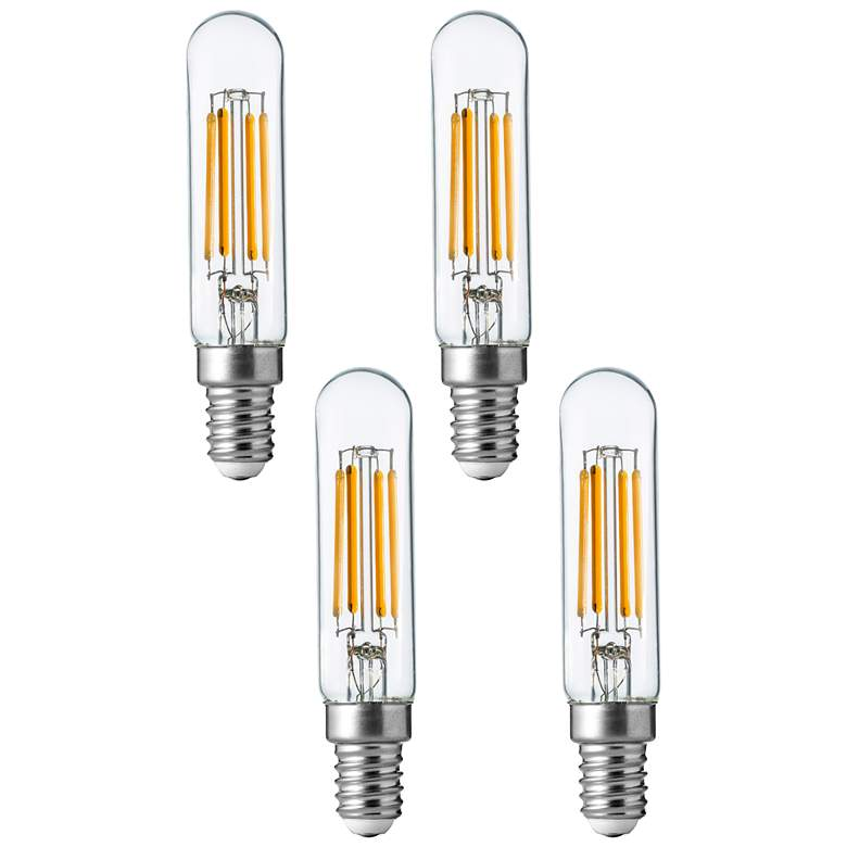 40W Equivalent Clear 4W LED Dimmable E12 Base T6 4-Pack Bulb