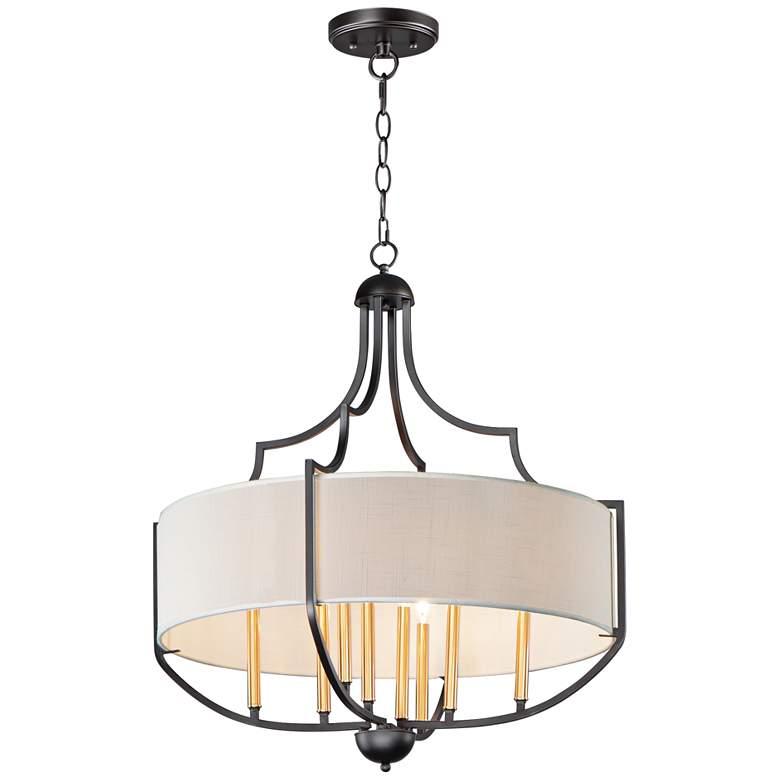 "Maxim Savant 31"" Wide Antique Bronze 8-Light Pendant Light"