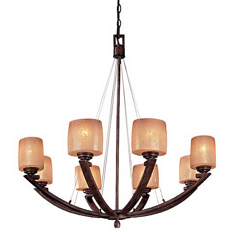 "Raiden Collection 34"" Wide Eight Light Chandelier"