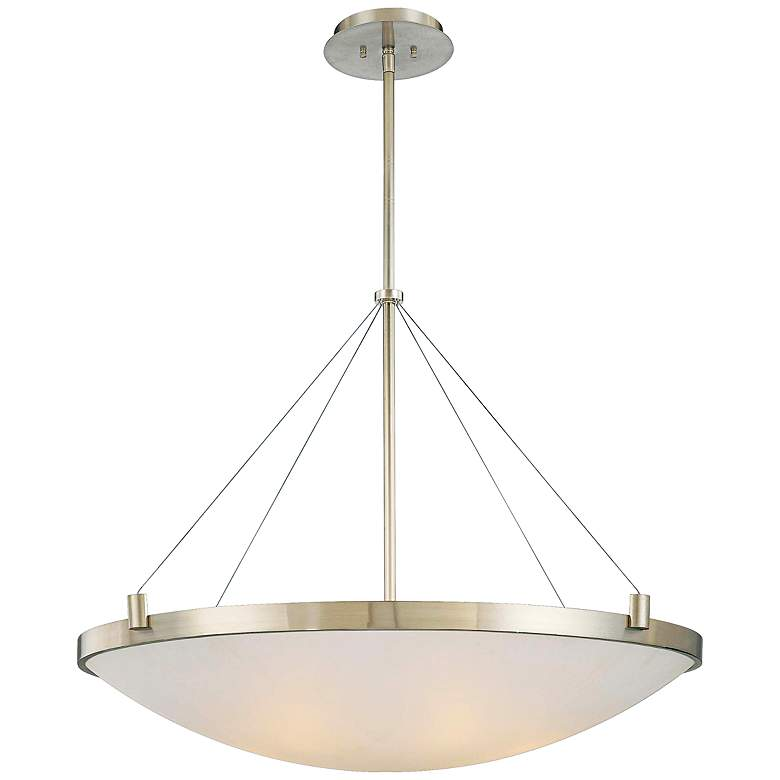 """George Kovacs Frosted Glass 34 1/2"""" Wide Pendant Light"""