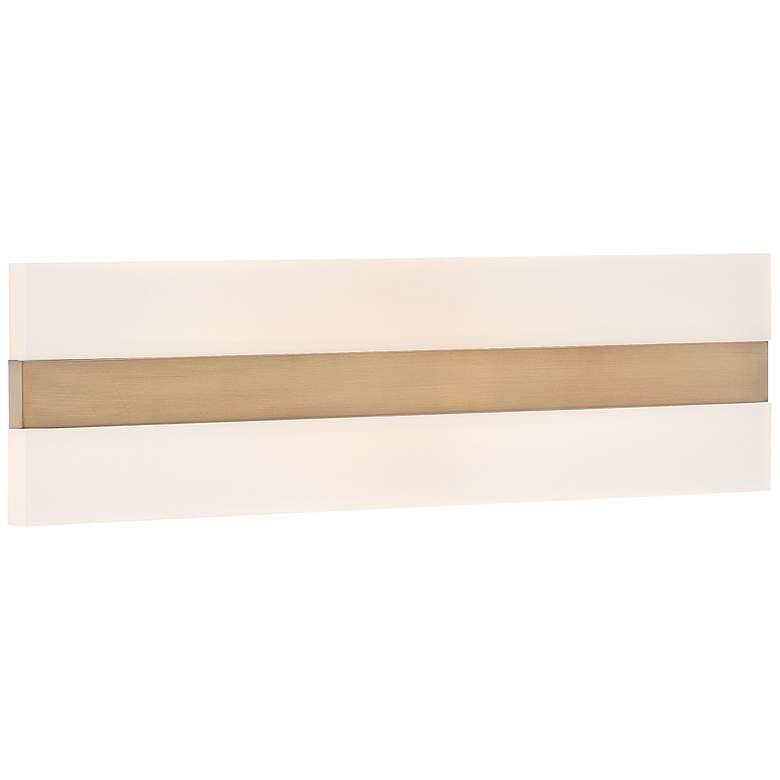 "Netherton 36"" Wide Antique Brass LED Bath Light"