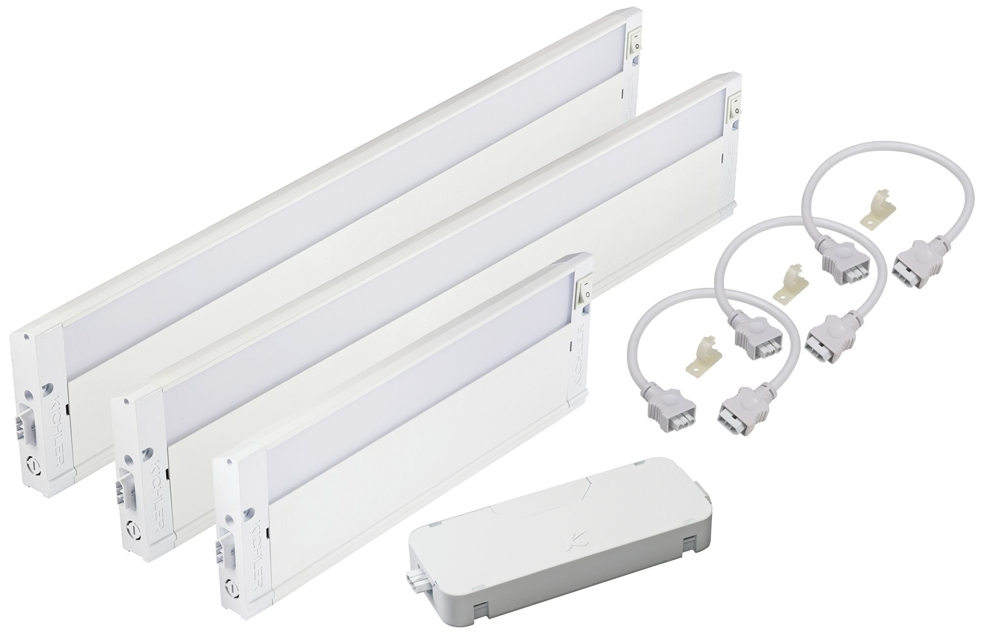 Merveilleux Kichler Under Cabinet Kit With Three LED Lights And Cable
