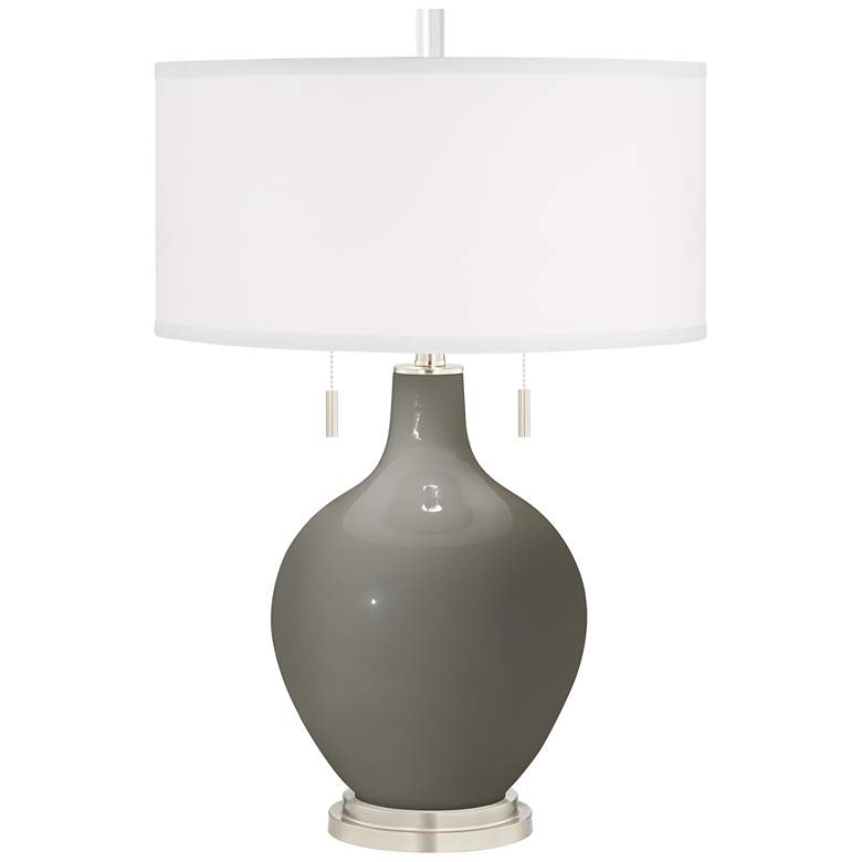 Gauntlet Gray Toby Table Lamp with Dimmer