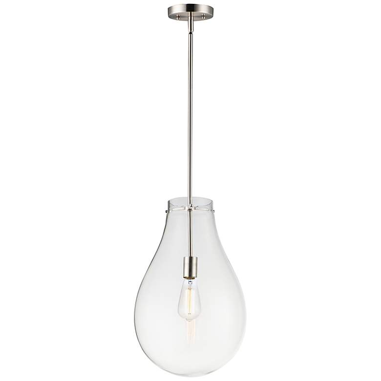"Maxim Gourd 11 3/4"" Wide Satin Nickel Mini Pendant Light"