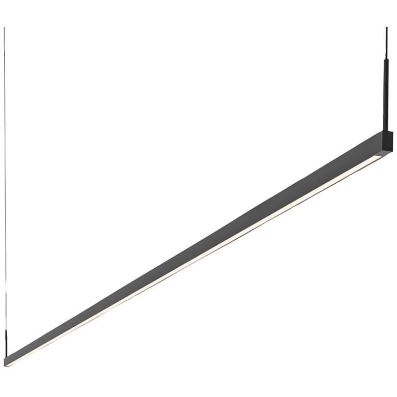 "Sonneman Thin-Line 96"" Wide Black 2-Sided LED Island Pendant"