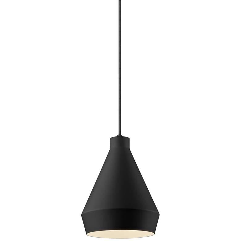 """Sonneman Koma 9"""" Wide Satin Black LED Mini Pendant Light"""