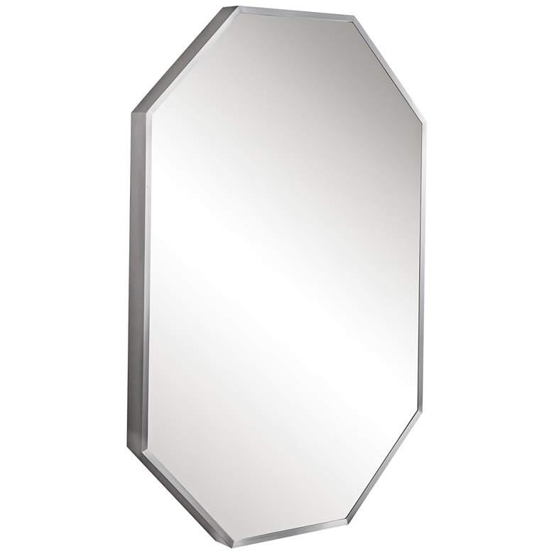 "Stuartson Brushed Nickel 20"" x 30"" Octagon Mirror"