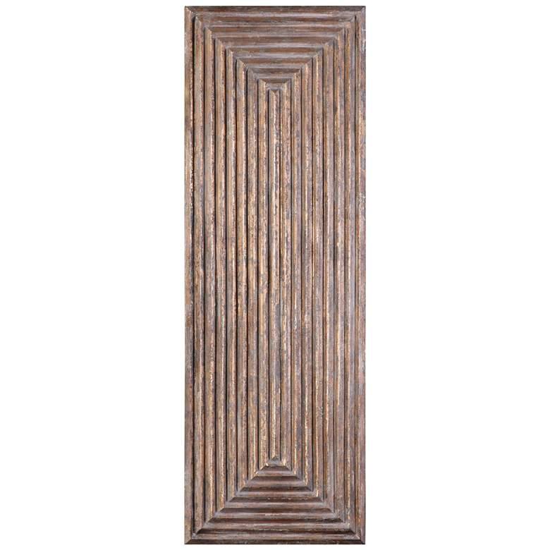 "Lokono 60"" High Oxidized Gold Wood 3-Dimensional Wall Panel"