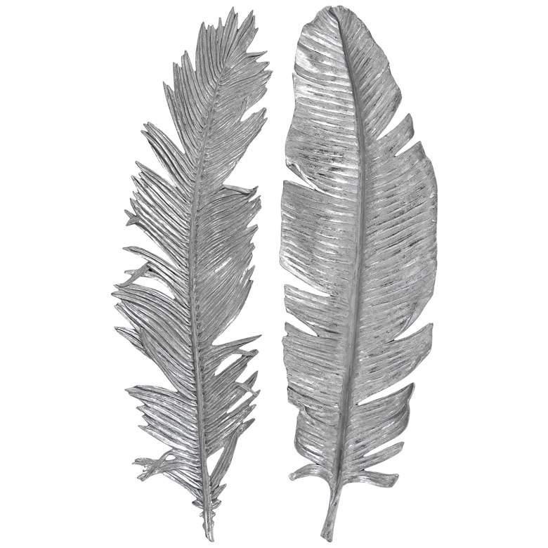Uttermost Sparrow Silver Leaf 2-Piece Wall Art Set
