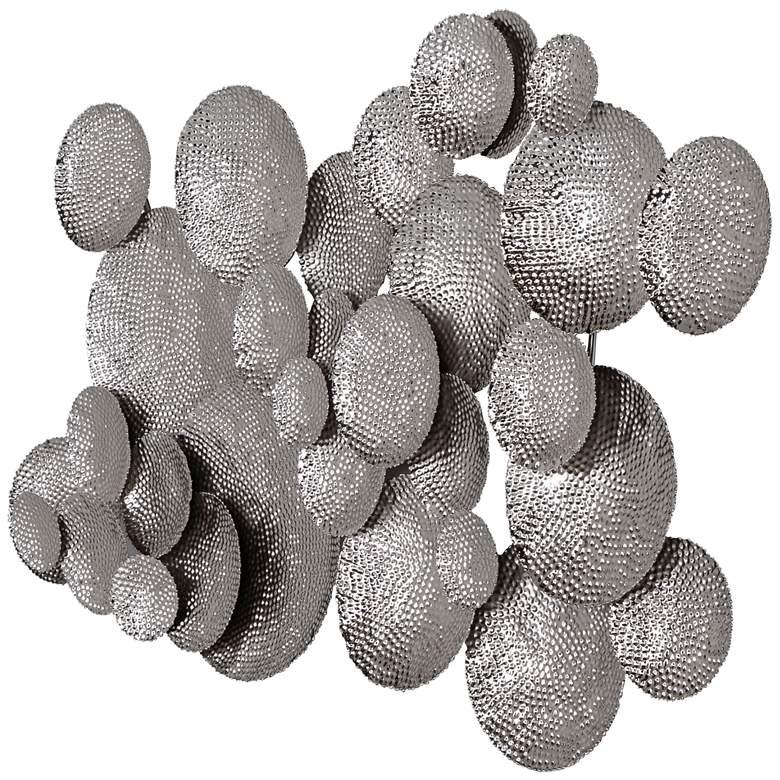 """Uttermost Cassava 35 3/4"""" High Silver Metal Wall Art"""