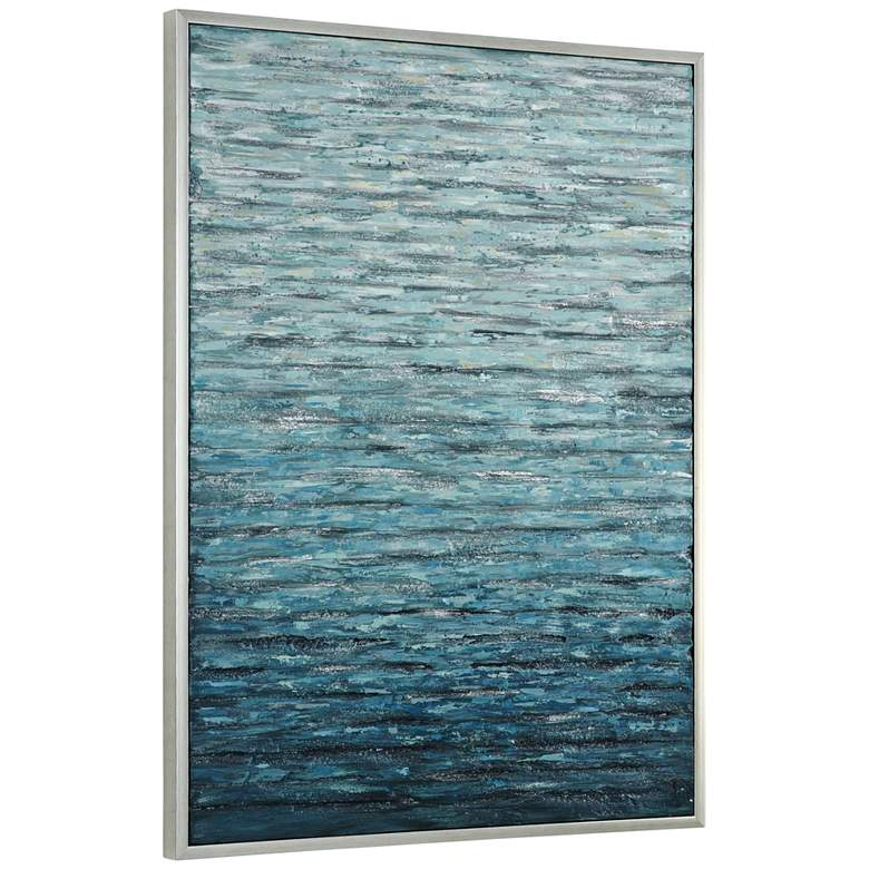 """Uttermost Filtered 41 1/2"""" High Hand-Painted Canvas Wall Art"""