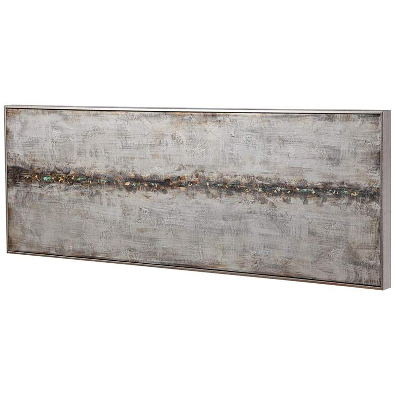"""Cracked Sidewalk 60 3/4"""" Wide Hand-Painted Canvas Wall Art"""