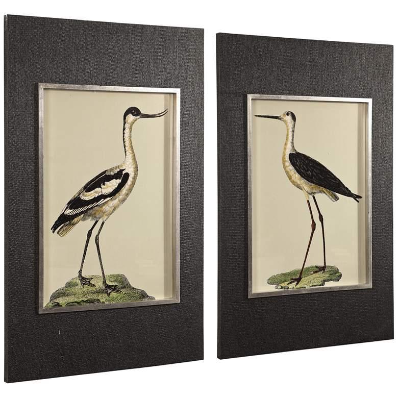 """Birds On The Shore 44 1/2"""" High 2-Piece Framed Wall Art Set"""