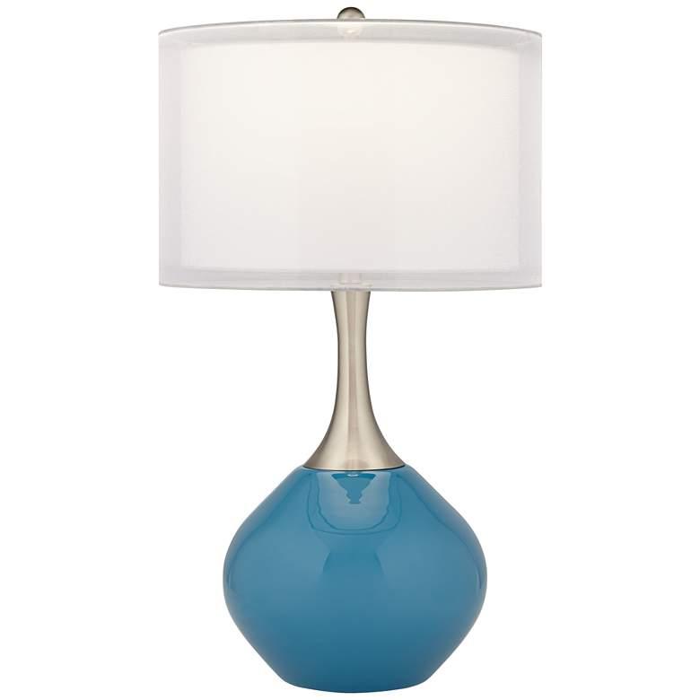 Swift Blue Modern Glass Table Lamp