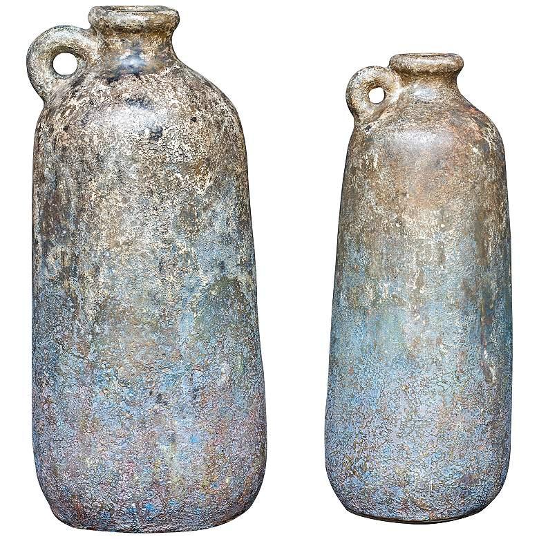 Uttermost Ragini Aged Caramel Decorative Vases Set of 2