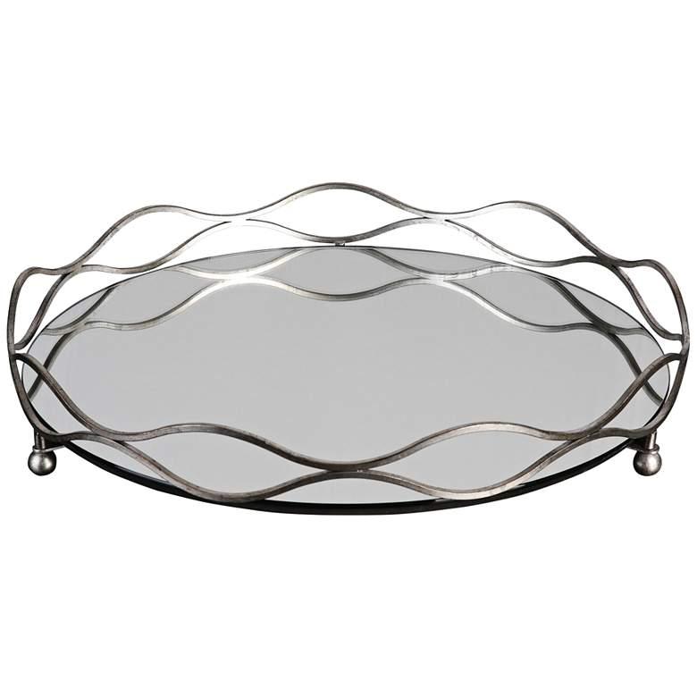 Uttermost Rachele Silver Leaf Mirrored Decorative Tray