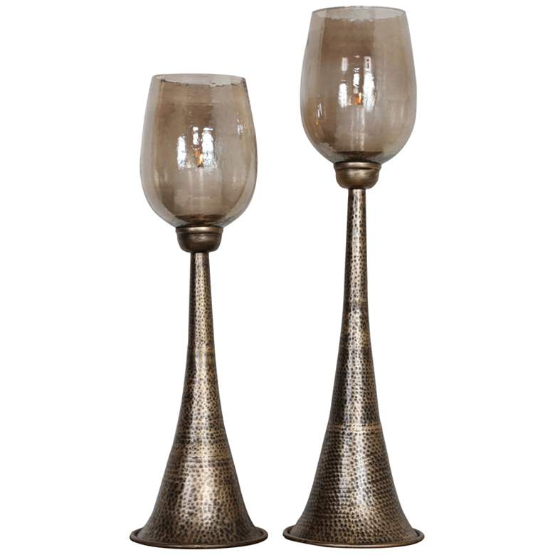 Uttermost Badal Antiqued Gold Votive Candle Holders Set of 2