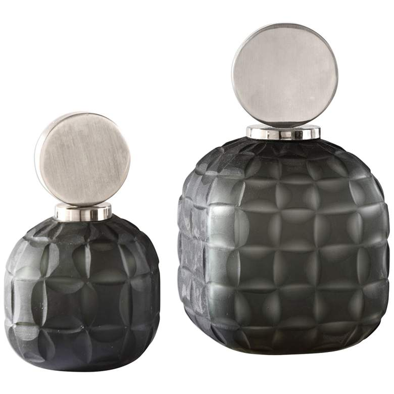 Uttermost Nafuna Black Nickel Decorative Bottles Set of 2
