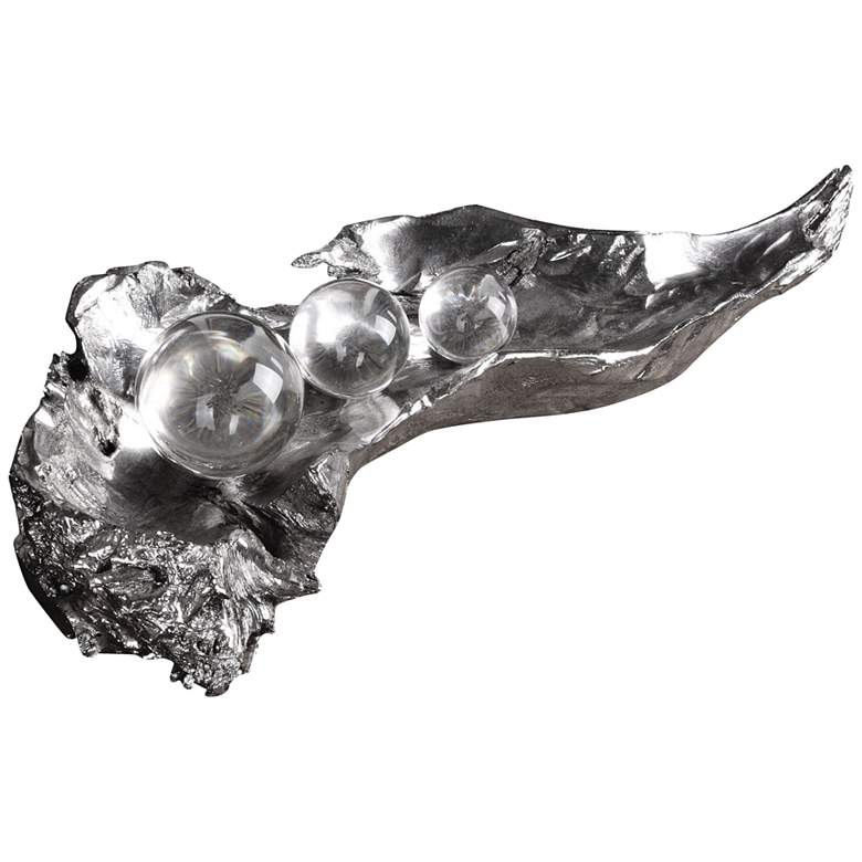 "Uttermost Three Peas in a Pod 20 1/2"" Wide Silver Sculpture"