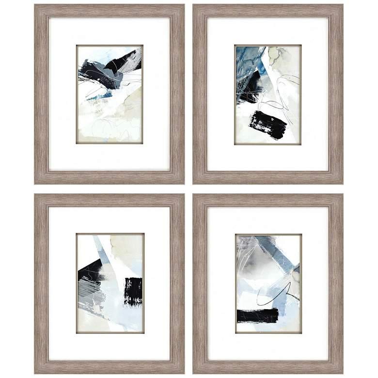 """New Beginning 23"""" High 4-Piece Framed Giclee Wall Art"""