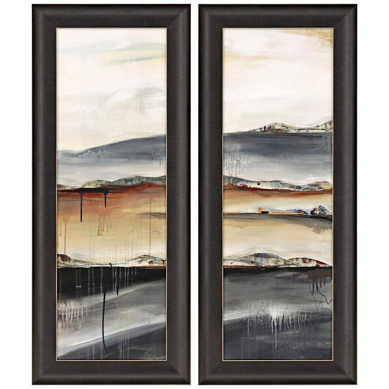 """Earth and Tide 41"""" High 2-Piece Framed Giclee Wall Art"""