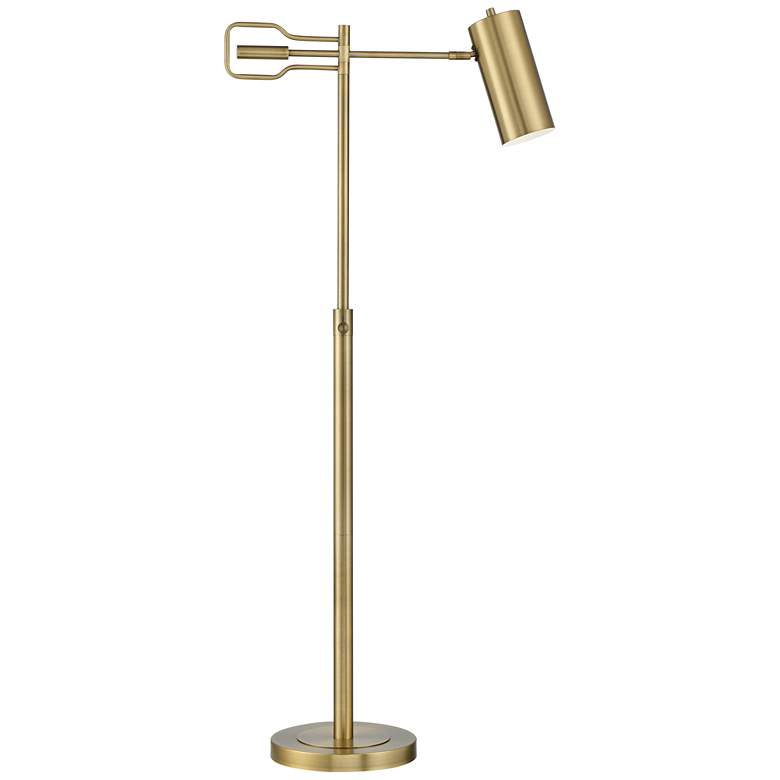 Kaylie Brass Finish Adjustable Task Reading Floor Lamp