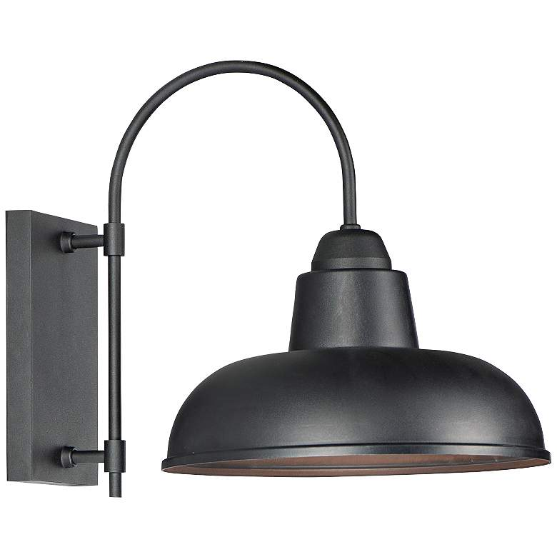 "Maxim Industrial 15 3/4"" High Black Outdoor Wall Light"