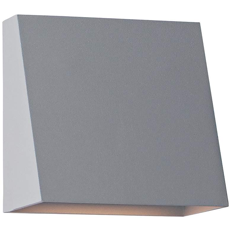 """Maxim Pathfinder 5 1/2"""" High Silver LED Outdoor Wall Light"""