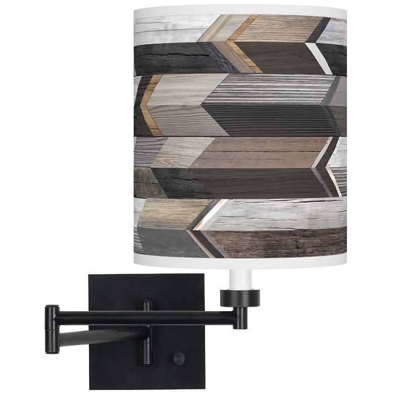 Woodwork Arrows Espresso Bronze Swing Arm Wall Lamp
