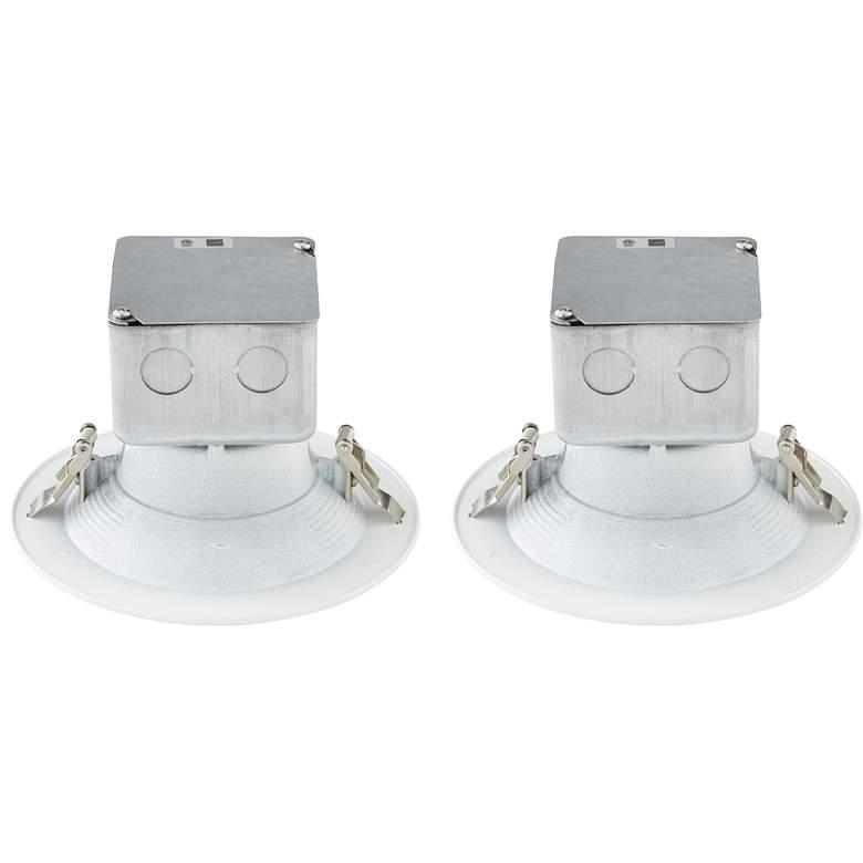 """Tesler Canless 5""""/6"""" White 15 Watt LED Trims 2-Pack"""