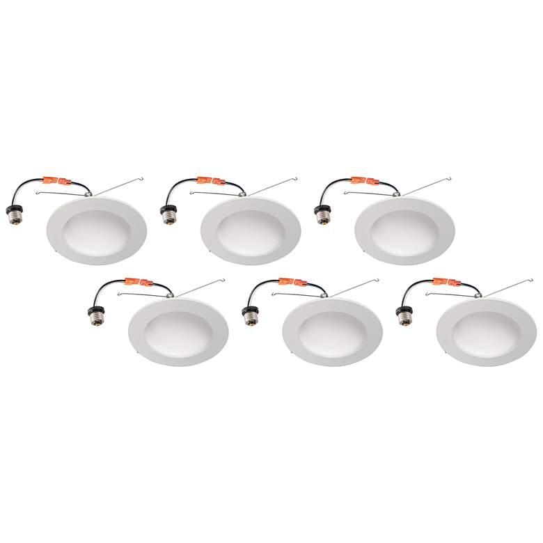 "6"" White Retrofit 15 Watt Dome LED Recessed Downlight 6-Pack"